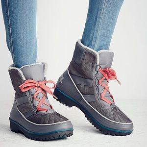 Sorel free people tivoli 2 grey boots 7